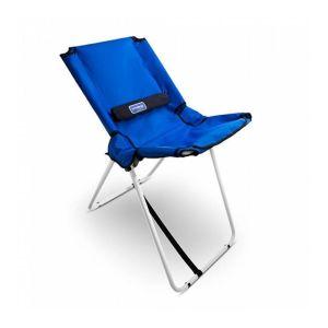 cadeira azul dobrável