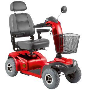 scooter vermelha com cesta na frete