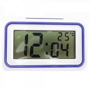 relógio despertador com visor largo, retangular