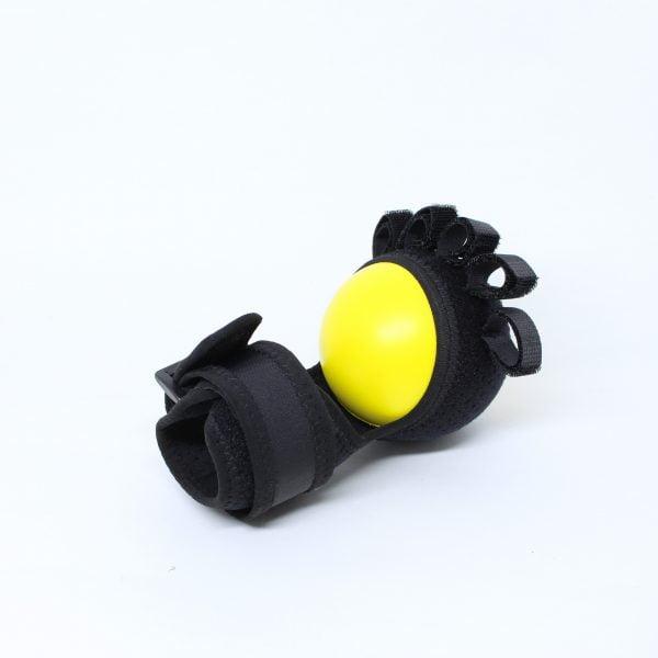 Bola Amarela de Exercício Fisioterapêutico para Mãos e Dedos com Haste Rígida