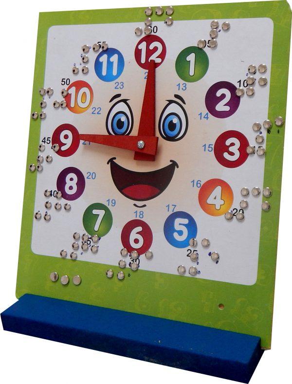 Relógio Educativo Hora Braile