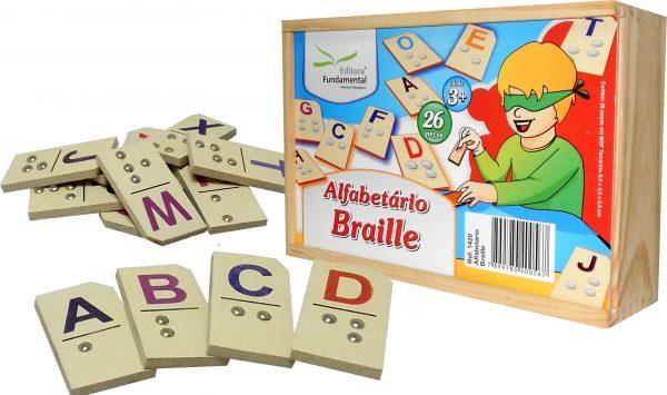 Alfabetário em Braile com 26 placas