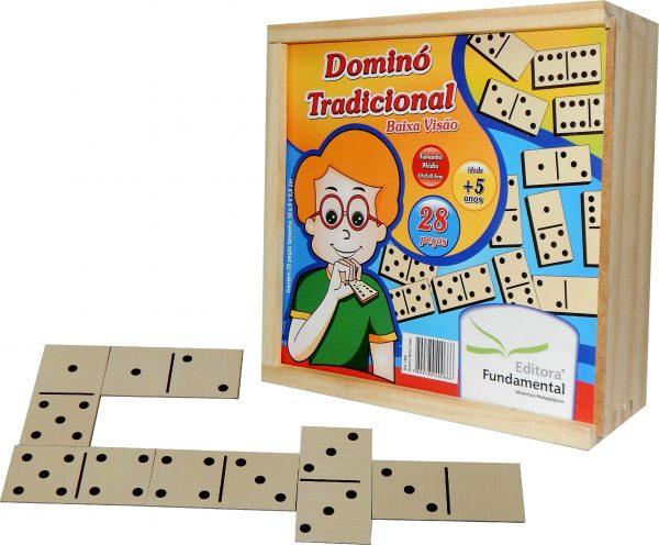 Jogo Dominó Tradicional Baixa Visão