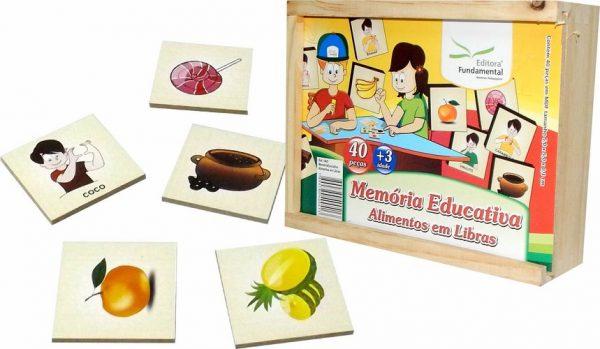 Jogo Memória Alimentos em Libras