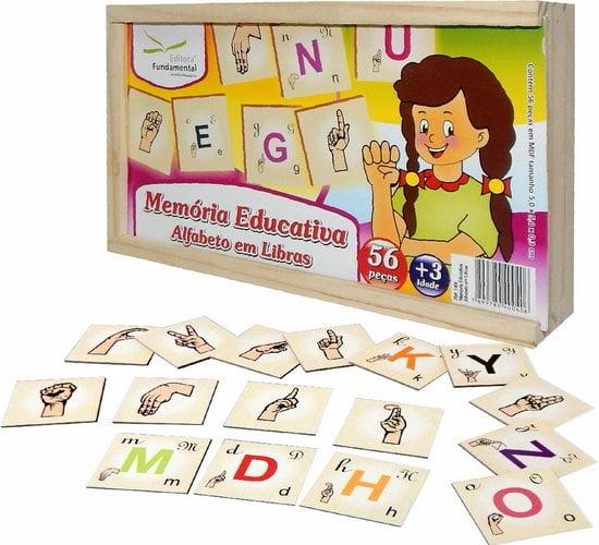 Jogo Memória Educativa Alfabeto em Libras
