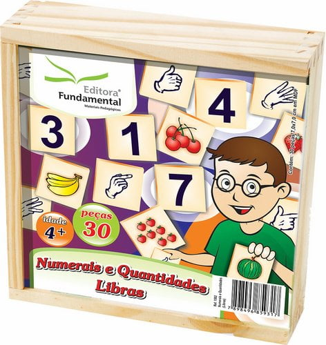 Jogo Numerais e Quantidades Libras