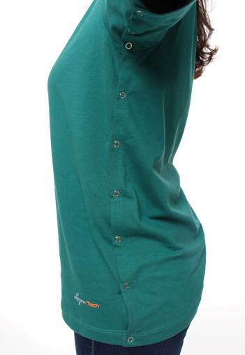 Camiseta Verde com Abertura Lateral