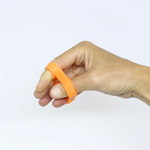 Extensor elástico para fortalecimento de dedos