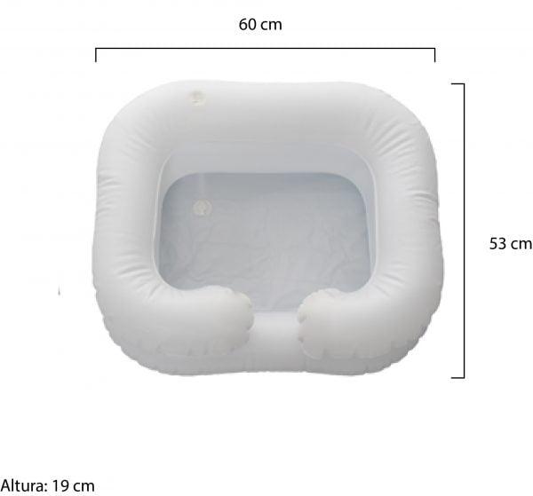 Lavatório inflável para acamados