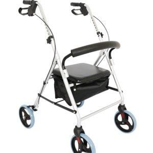 Andador de alumínio 4 rodas D12 - Dellamed