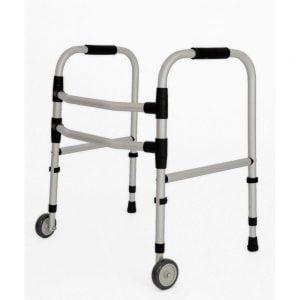 Andador ortopédico infantil fixo e dobrável com rodas - Indaiá