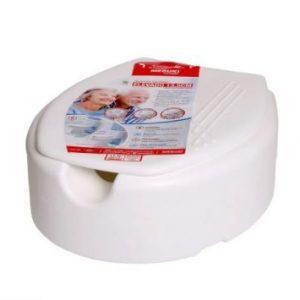 Assento sanitário oval elevado com tampa 7,5 cm almofadado - Mebuki