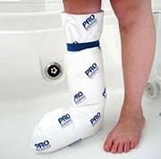 Protetor de gesso para banho - probanho meia perna infantil
