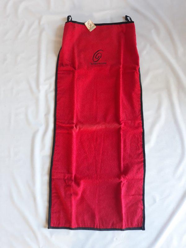 Toalha sem braço vermelha